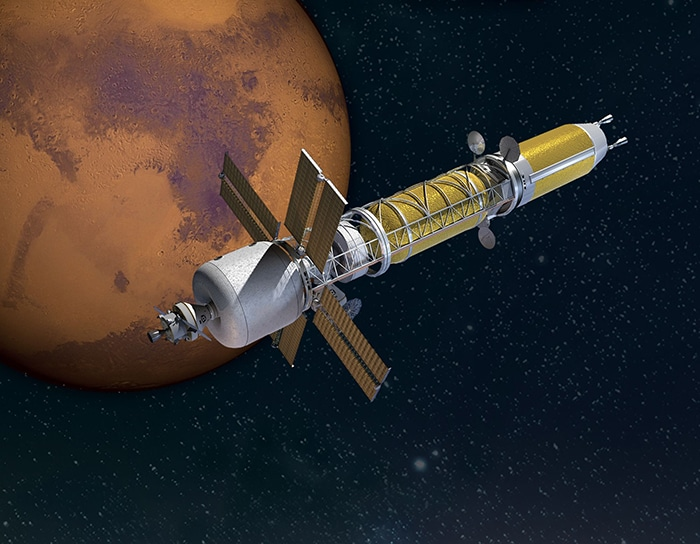 Nuclear-powered rocket that could get us to Mars faster