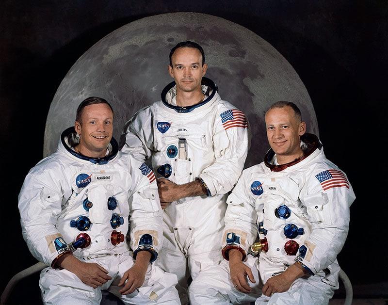 The official crew photo for Apollo 11