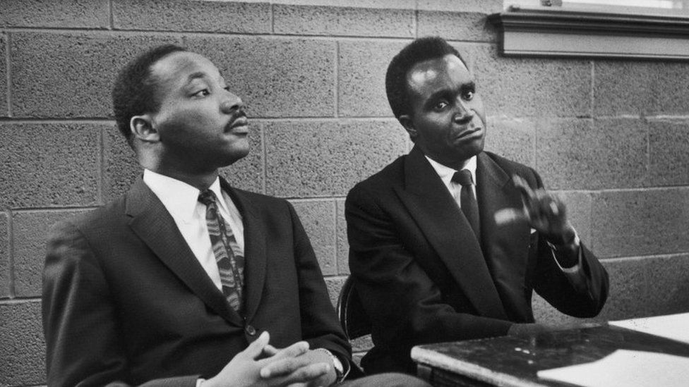Kenneth Kaunda with Martin Luther King Jr
